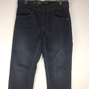 Ring of Fire Blue Denim Jeans Dark Wash 32 x 32